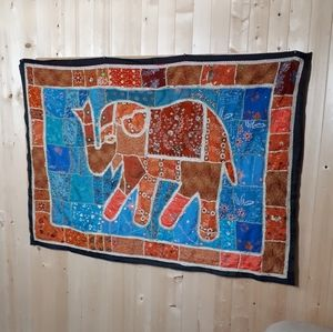 Indian Embroidery Elephant Pano